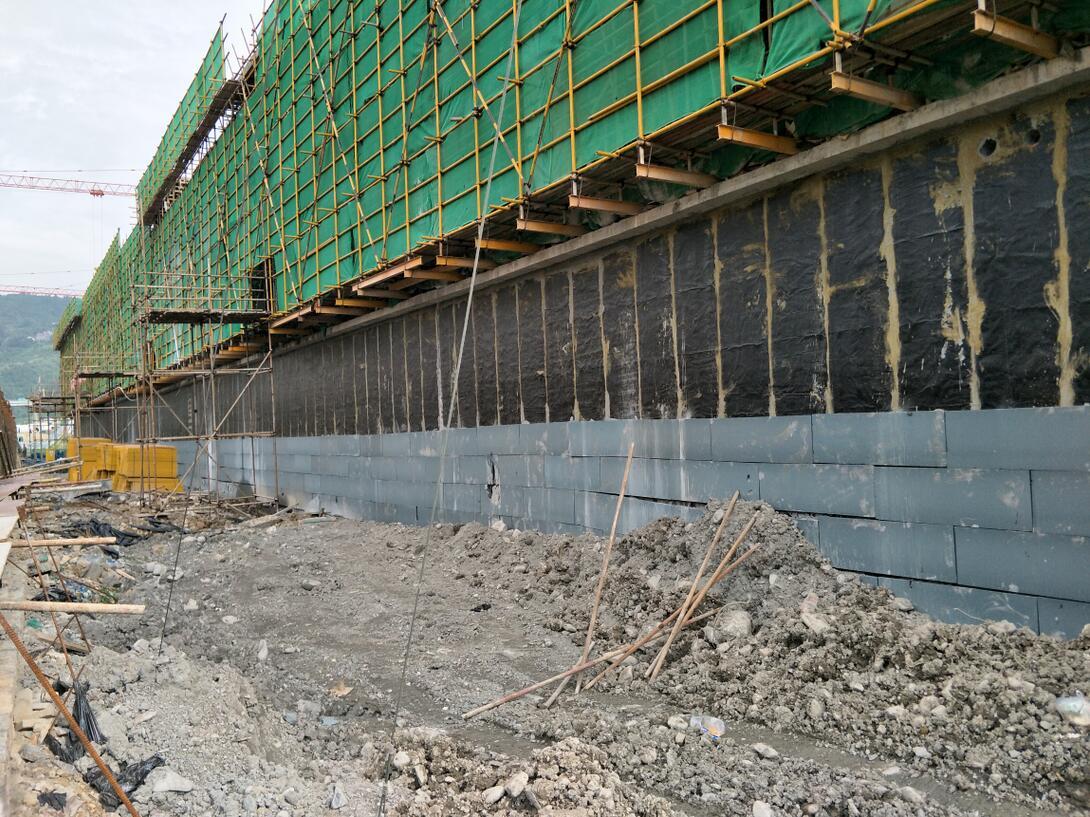 石阡县万金庄棚改项目地下室剪力墙卷材防水